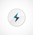 lightning icon 2 colored vector image vector image