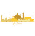 lucknow india city skyline golden silhouette vector image vector image