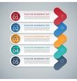 Modern arrow infographic design template vector image vector image