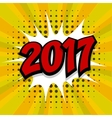 New year 2017 yellow halftone background vector image vector image