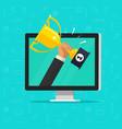 online award goal achievement flat cartoon vector image vector image