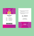 pink corporate id card 19 vector image vector image