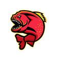 piranha sports mascot vector image vector image