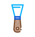 pottery spatula icon outline vector image vector image