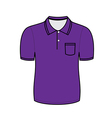 purple polo shirt outline vector image vector image