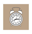 retro style analog alarm clock sketch vector image