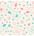 Seamless background with toys and hearts vector image vector image