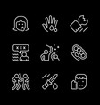 set line icons violence vector image vector image