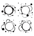 Set of Abstract Circles Badges vector image vector image