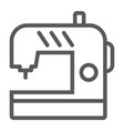 sewing machine line icon electric and textile vector image