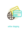 shopping on net concept design over white vector image vector image