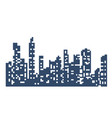 silhouette of the city landscape vector image