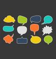 speech bubbles for text dialogue talk comic vector image