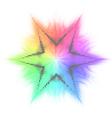 Star and mosaic vector image vector image