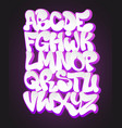 stylized graffiti font and alphabet vector image vector image