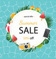 summer for banner design poster and vector image