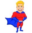 Superhero cartoon posing vector image vector image
