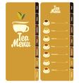 tea menu 001 vector image