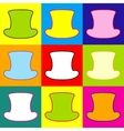 Top hat sign vector image vector image