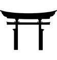 Torii gate silhouette vector image vector image
