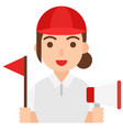 tour guide icon profession and job vector image vector image