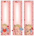 Valentines Day Cupid with vertical banners vector image vector image