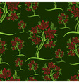 vector seamless pattern from trees vector image vector image