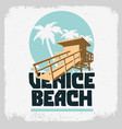 venice beach los angeles california lifeguard vector image vector image