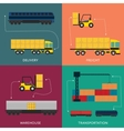 Warehouse and freight transportation banner set vector image vector image