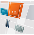 Abstract square background vector image