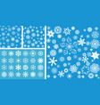 2 snowflakes seamless background with mega vector image