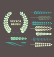 a set of brushes in the form of wheat for your vector image vector image
