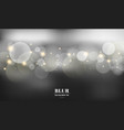 abstract black blurred background with bokeh and vector image vector image