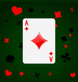 ace of diamonds playing card vector image