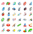 analytics icons set isometric style vector image vector image