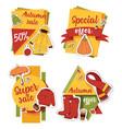 autumn sale offer banner for website banner items vector image