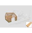 barn detail wood vector image