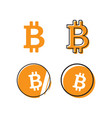 bitcoin logo design template vector image