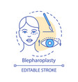 blepharoplasty concept icon vector image vector image