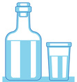 Carafe and glass vector image