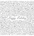 christmas icon seamless pattern happy winter vector image vector image