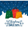 christmas sale 50 percent offer season commerce vector image