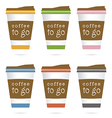 coffee in papaer glass icon in colorful vector image vector image