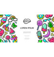 colorful pop art patches template vector image vector image
