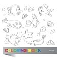 Coloring book - marine life vector image vector image