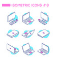 computers - set modern isometric vector image vector image