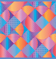 concept colorful geometric seamless pattern vector image vector image
