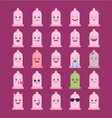 condom shaped funny emoticons isolated set vector image