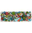 coronavirus hand drawn cartoon doodles colorful vector image vector image