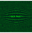 Cyber party background vector image vector image